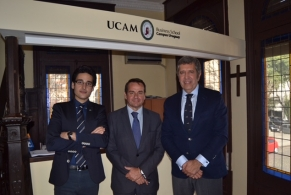 Visita Javier Collado a UCAM Business School Uruguay